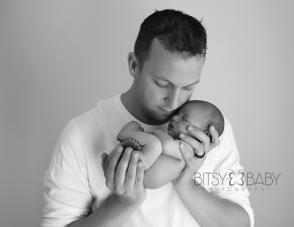 newborn photograph w dad