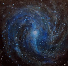 Alizey Khan - M83 (Southern Pinwheel Galaxy) (alizeykhan) Tags: moon art painting stars space galaxy nebula cosmic cosmos nebulae spacetuna