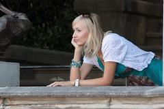 Triestina... (Cilions) Tags: donna sguardo mano sorriso trieste bellezza ragazza turchese bionda profilo modella fascino eleganza passionphotography sognante