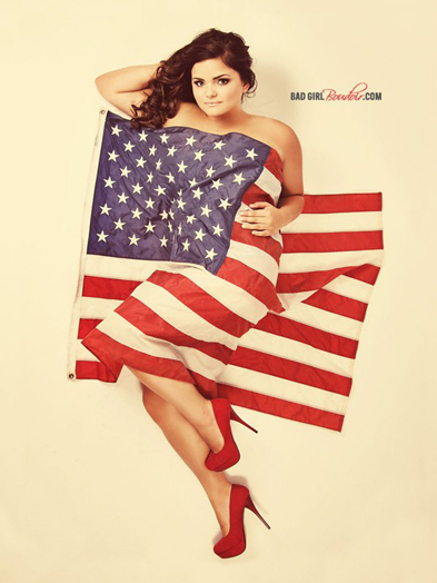 Patriotic Pinup Boudoir Photography