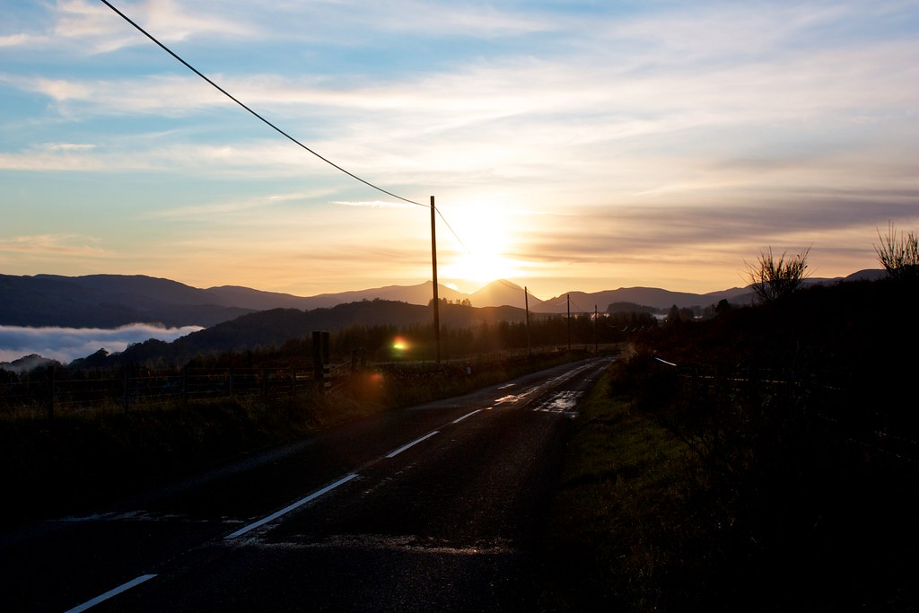 Sunset from the Killin road