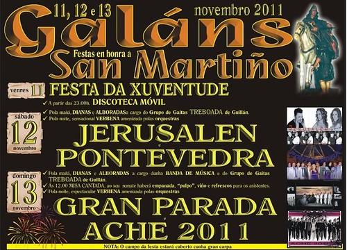 Vilagarcía de Arousa 2011 - Festas de San Martiño en Galáns - cartel