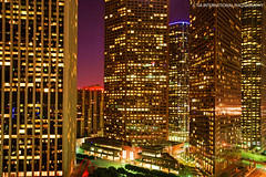 Angels at My Window (TIA International Photography) Tags: california plaza city november autumn urban sculpture reflection tower night america skyscraper buildings tia landscape real lights evening office losangeles los long exposure downtown cityscape estate view angeles bank wells angels vista kpmg fargo exciting tosin dazzling arasi tiascapes ©tiainternationalphotography