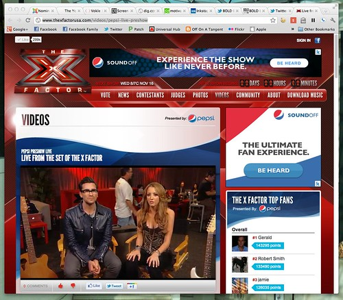 .@TheXFactorUSA Pre-Show - Live from the set of THE X FACTOR by stevegarfield