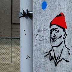 Vote! (Man & His World) Tags: graffiti stencil burnaby billmurray