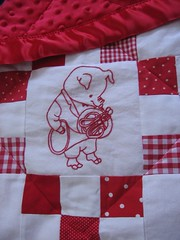 sophia's quilt, richard scarry redwork (karolinecraft) Tags: creativity 20081211