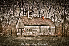 Old School House in Avon 625E (David A. Owens Photography) Tags: county trees building barn rural landscape landscapes country barns shed indiana weathered avon hendricks