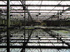 Ferodo : Reflections (norman preis) Tags: uk plant abandoned wales october industrial factory cymru explore prison ferodo derelict dynamics gwynedd caernarfon asbestos urbex dispute hydref manufacturing proposed menaistrait 2011 friction bluefield derelicte transportandgeneralworkersunion breakpads dissused lonlas asbestosis brakelining dmeurig