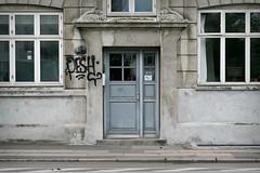 Pesh (phluids) Tags: door streetart streets copenhagen denmark grey graffiti graf danish kbh 2011 pesh