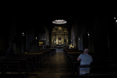 The ultimate insider. (mvguzman) Tags: shadow church dark darkness prayer pray praying corridor iglesia altar petition reza kneeling ask parrish parroquia oscuro oracion rezar arrodillado blinkagain bestofblinkwinners