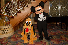 DCL Feb 2012 - Meeting Mickey and Pluto on Formal Night