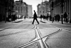 Anonymous (Thomas Leth-Olsen) Tags: nice tracks streetscene anonymous tramway locations shallowdof crossingtracks