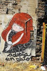adopta un gato (alterna ►) Tags: chile santiago color muro graffiti mujer mural natalia torso boba fotografia niñas mujeres domingo muralla santo par pelo 2012 alterna alternativa 2011 yungay superboba urbanmonk alternaboba