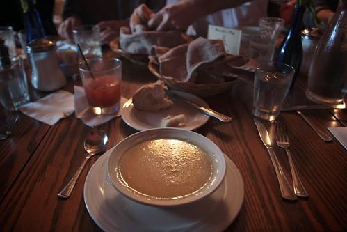 artichoke soup in pescadero
