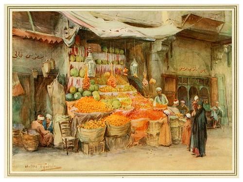 010- Puesto de frutas en Bulak-An artist in Egypt (1912)-Walter Tyndale