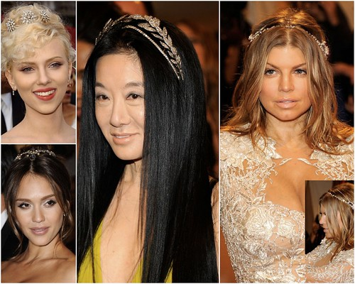 Red Carpet Trend - celebrities wearing hair jewelry
