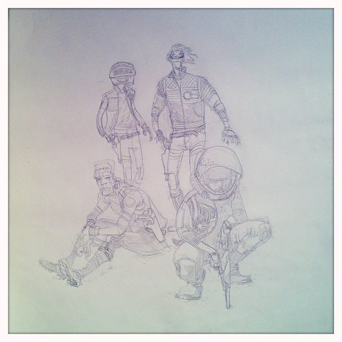 Killjoys pinup - pencil