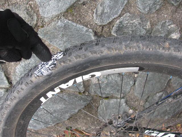 Self-repairing tyres