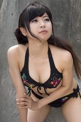 01653 (cosfit) Tags: ocean sea portrait people woman cute sexy beach girl beautiful beauty fashion japan lady asian japanese model asia pretty bikini swimsuit bathingsuit swimwear 20110703nisgp