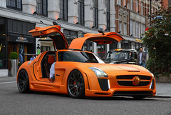 Orange. (tWm.) Tags: uk fab orange white london car mercedes benz design nikon stream body thomas gull wide super mein arab modified hyper kit nikkor coupe supercar f4 v8 sls amg qatar widebody fabdesign 24120 qatari hypercar gullstream d7000 133333