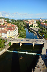 Crisul Repede river as seen from Oradea Townhall (usabin) Tags: bridge river center ferdinand romania transylvania sabin oradea crisul podul repede usabin transylvaniaoradea