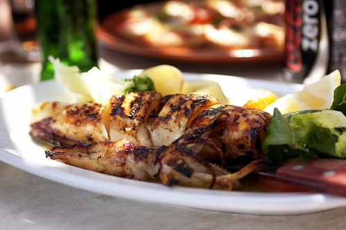 grilled squid @ irini's cafe