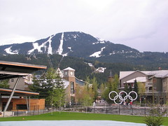 Whistler, BC Olympic Village 058 (Beauty Playin 'Eh) Tags: snow canada mountains vancouver forest whistler britishcolumbia squamish olympicvillage 2010winterolympics olympicrings vancouverstanleycup2011