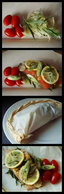 Salmon & Tomatoes En Papillote