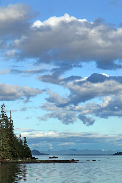 clouds over Kasaan Bay, Kasaan, Alaska