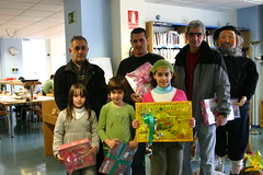 Recogida de premios del Concurso de la carta al Olentzero de 2008