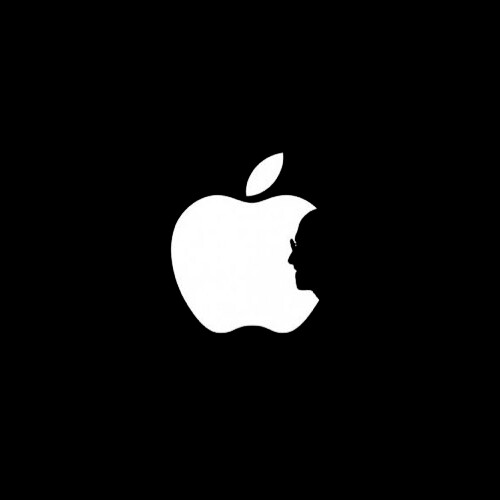Apple Logo with Steve Jobs silhouette by Lightsurgery