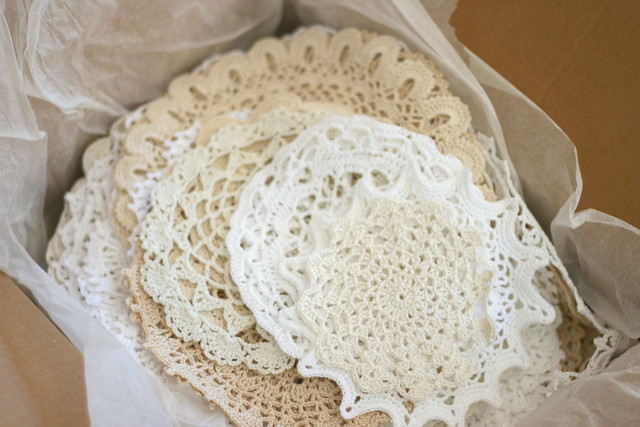 Doilies in a box