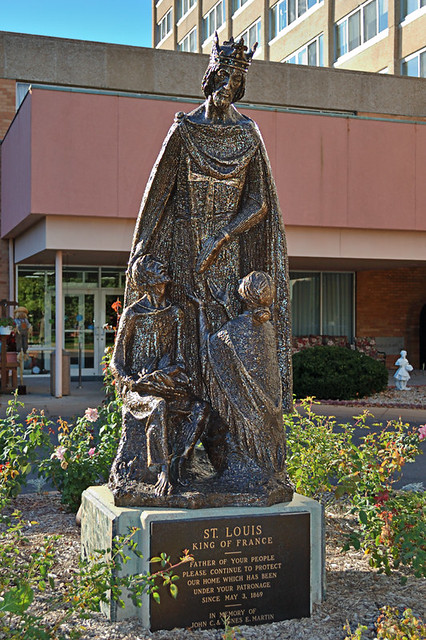 Little Sisters of the Poor, in Saint Louis, Missouri, USA - statue of Saint Louis