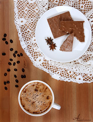 Mocha & Chocolate [ Explore ] (ANOODONNA) Tags: food coffee canon photography eos chocolate mocha l usm f28 canonef2470mmf28lusm ef 2470mm 50d canoneos50d alrasheed alanood alanoodalrasheed