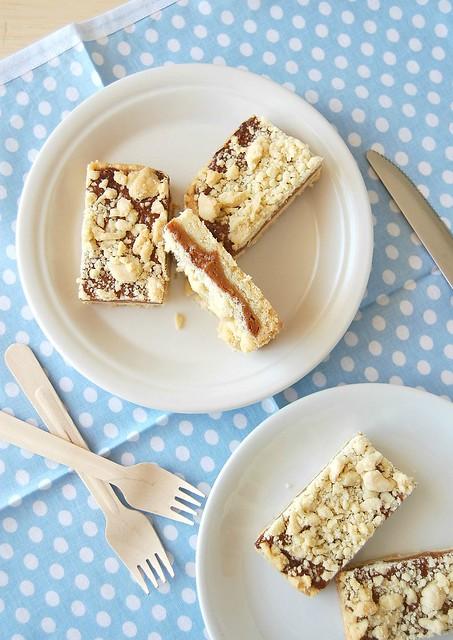 Caramel crumb bars / Barrinhas de caramelo