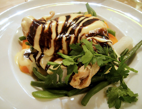 Poached Chicken with Lemon Sauce