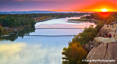 Spectacular sunset over Irtysh river (Feng Wei Photography) Tags: china trip travel bridge light sunset wallpaper vacation panorama cloud color colour reflection tower fall tourism nature water beautiful beauty rock horizontal river spectacular landscape scenery colorful asia peace tour outdoor vibrant horizon scenic vivid peaceful landmark tourist panoramic explore serenity xinjiang serene geology picturesque secluded geological yadan geologic altay irtyshriver aletai colorfulbeach yardanglandform