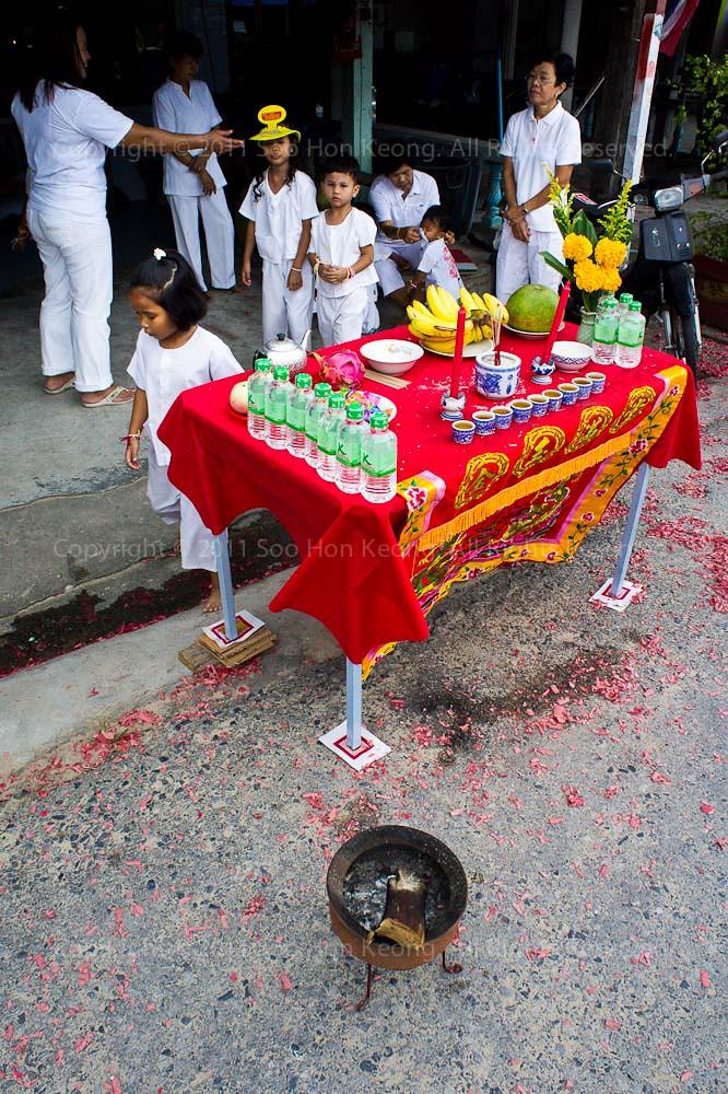 Offerings @ Phuket Vegetarian festival 2011, Phuket, Thailand