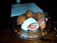 Fried strawberries