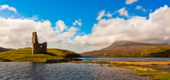 Ardvreck Castle | Highlands | Scotland (capturedcanvas.co.uk) Tags: uk white mountains castle clouds canon landscape photography scotland highlands ruin loch 1740l ardvreck chrissmith assynt 450d capturedcanvas