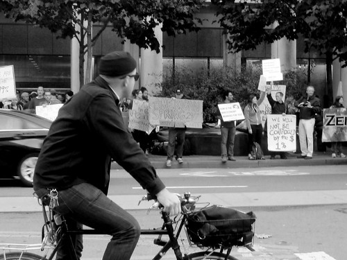Passerby Watching the Occupy Protest