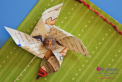 La sfida di Scrapbookiando: girandola-mania (OltreversoLab) Tags: scrapbooking paperpinwheels pinwheelcraft girandoledicarta