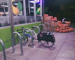Xtracycle & pumpkins