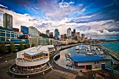 Another Rainy Day in Seattle - Pier 66 (Patrick Choi) Tags: seattle sunset storm rain clouds pier washington nikon waterfront tokina 11mm gitzo uwa pier66 ultrawideangle bellstreet anthonyspier66 centralwaterfront d80 markinsq3