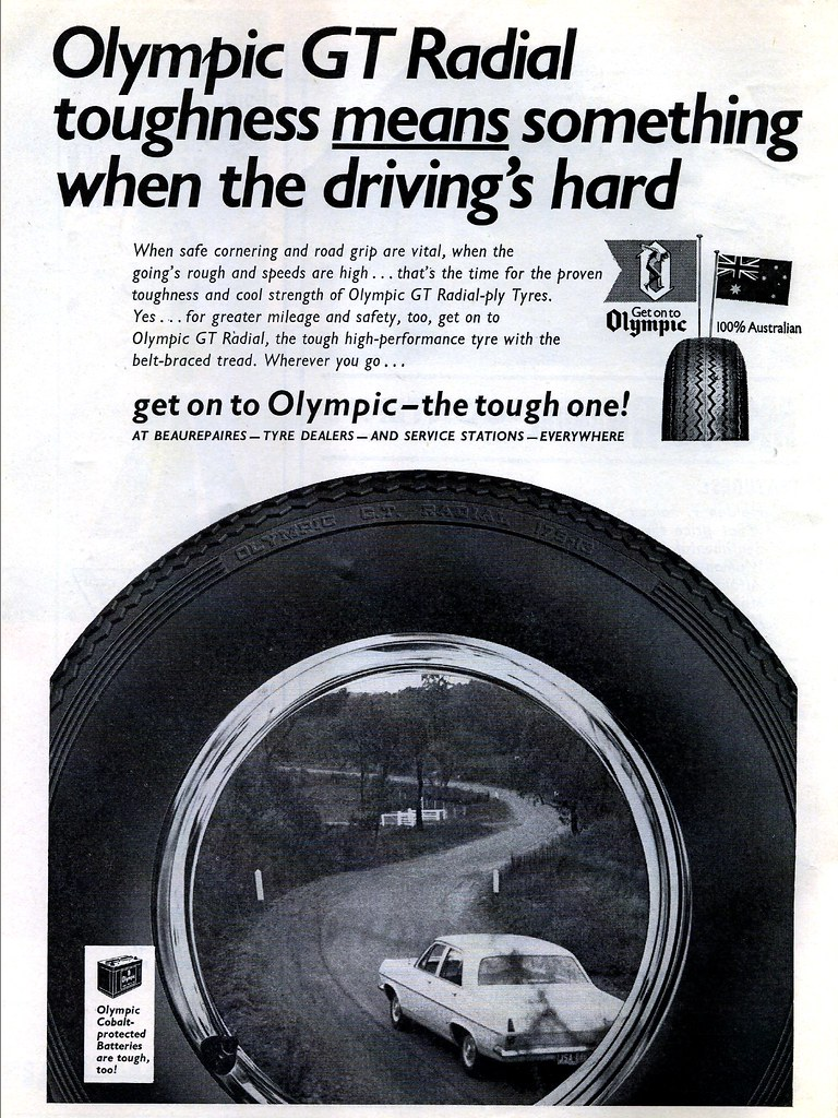 1967 Olympic GT Radial tyres ad