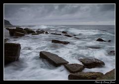 sunrise  - forresters beach15-10-11_141-Framed (DoctorJ73) Tags: sun beach water sunrise canon eos james coast rocks waves central 7d danny sundance splash cocean forresters