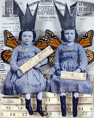 we rule (stephanie rubiano) Tags: collage butterfly wings mixedmedia fairy crown shadowbox