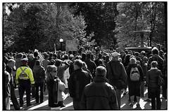 Occupy Ottawa—Protest (Markus Holmes) Tags: people blackandwhite bw sign march blackwhite democracy movement ottawa crowd protest streetphotography police 99 anarchy capitalism economy crowds bwphotography confederationpark protestors streetshooting occupy ottawaontario ottawaon anarchis canadascapital 23ev f1design markusholmes occupyeverything occupywallstreet occupywallst occupyottawa