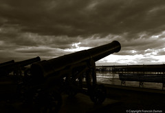 Main Gun Ready!!! (Still-Free) Tags: old sunset sky canada clouds canon landscape nikon quebec silhouettes quebeccity flickraward d7000 nikonflickraward