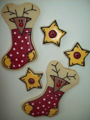Christmas Cookies - Reindeer (Jill FCS) Tags: christmas cookies reindeer star cookie button stocking